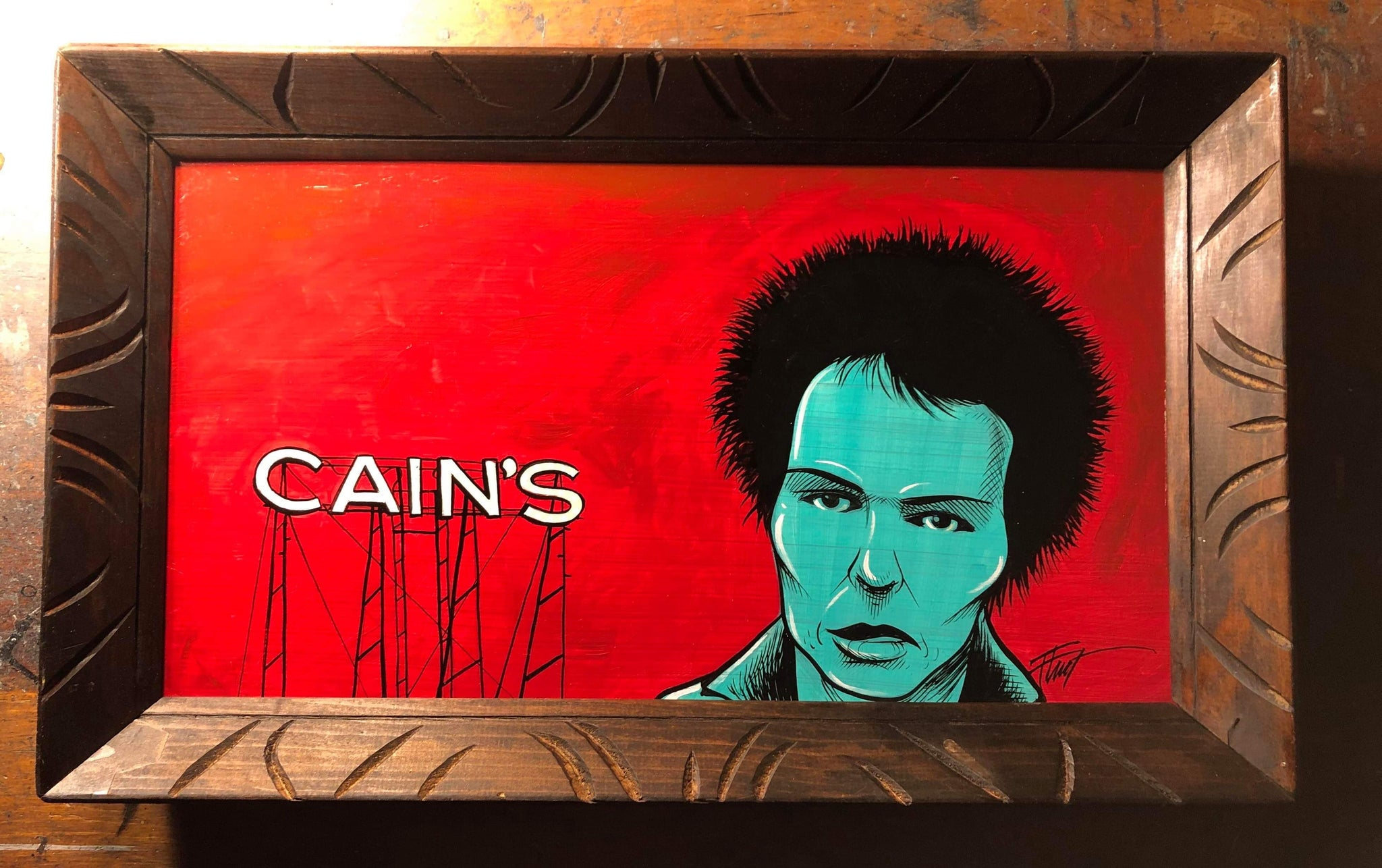 Sid at Cain's Ballroom Painting