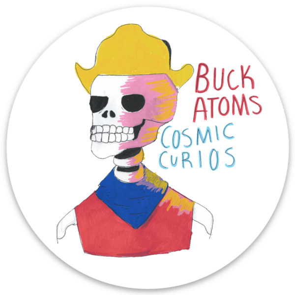 Buck Atom Skull Sticker