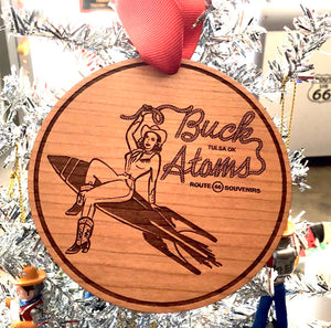 Buck Atom pin up ornament