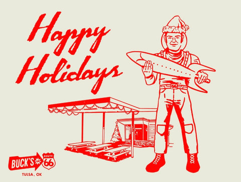 Buck Atom's Holiday Card