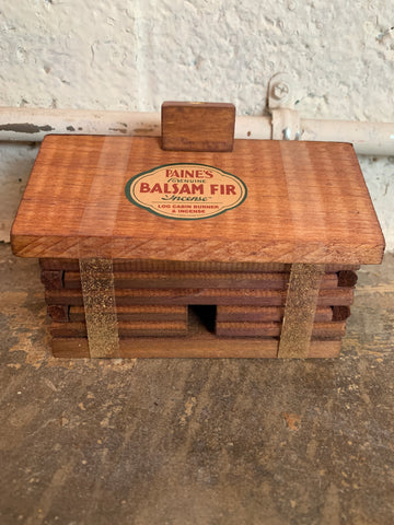 Super Balsam Fir Incense Log Cabin Burner