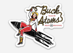 Buck Atom Rope Logo Sticker