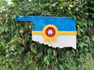 Tulsa Flag Oklahoma Wood Art