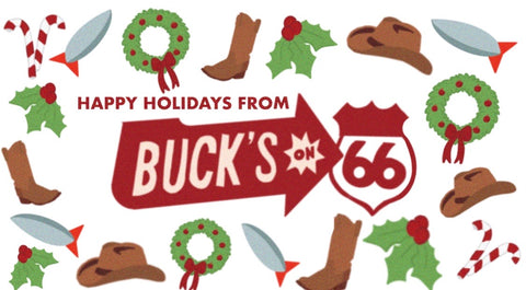 Buck's Holiday Greeting Card Pack of 5