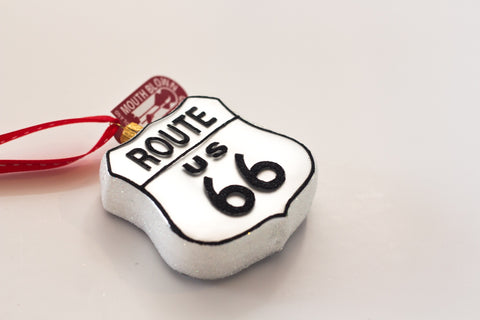 Route 66 Glass Ornament