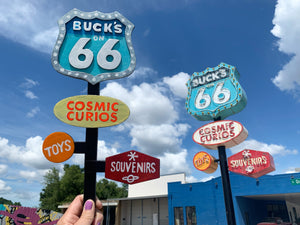 Buck's on 66 Miniature Neon Art