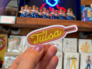 Tulsa Corndog Sticker
