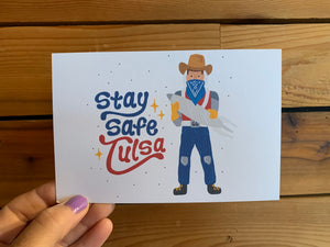 Stay Safe Tulsa postcard