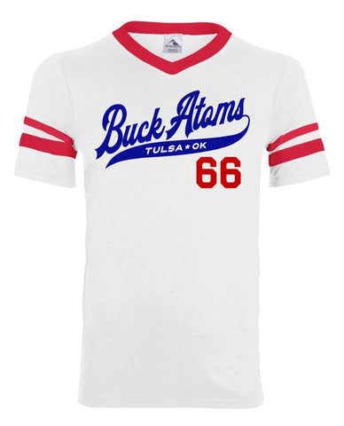 Buck Atoms Baseball V-Neck
