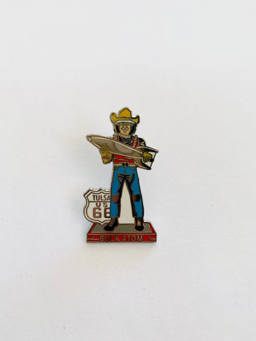 Buck Atom Lapel Pin