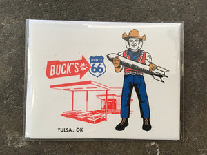 Buck Atom Muffler Man Card