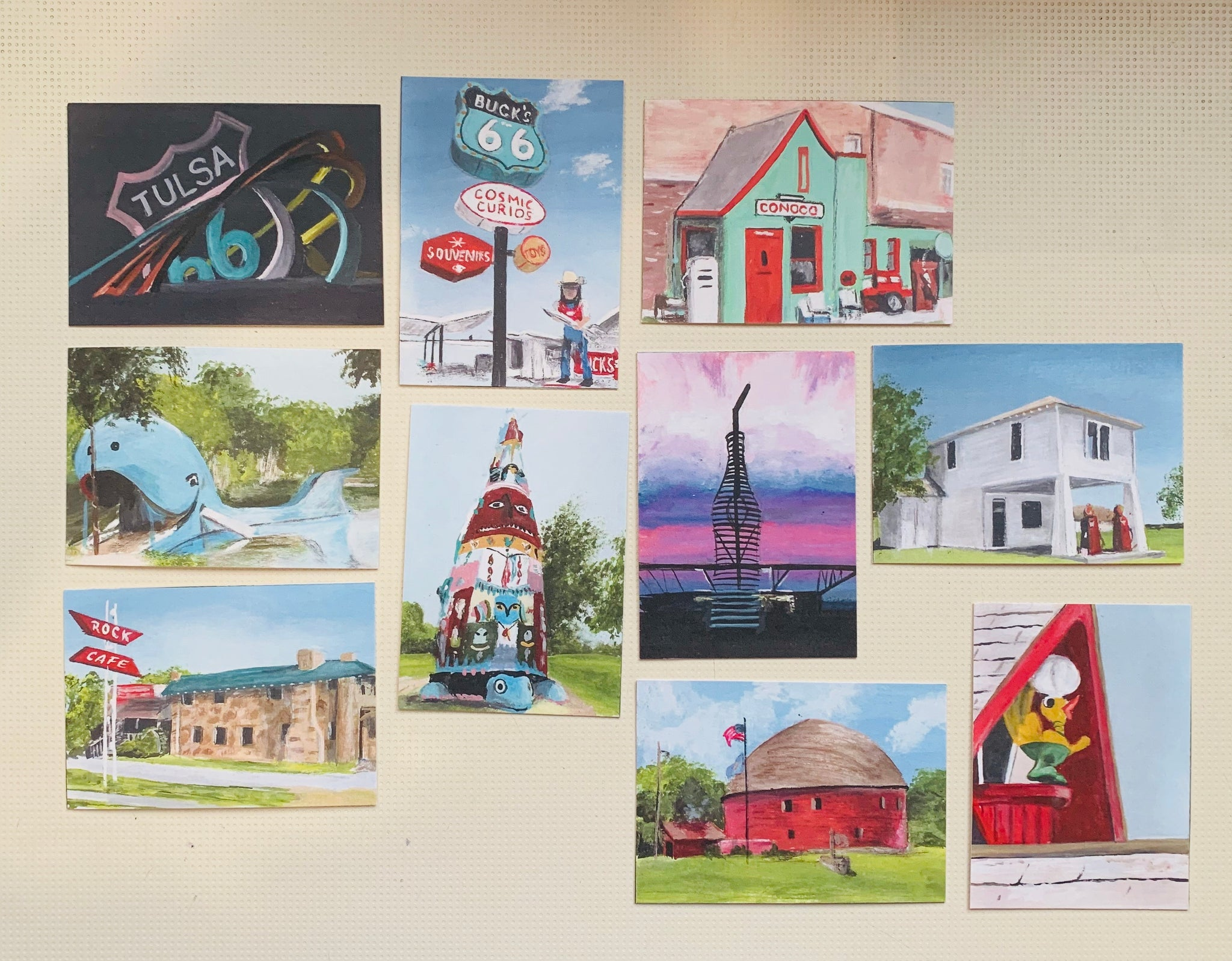 Oklahoma Route 66 Trading Cards