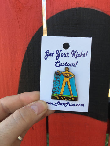 Golden Driller Lapel Pin