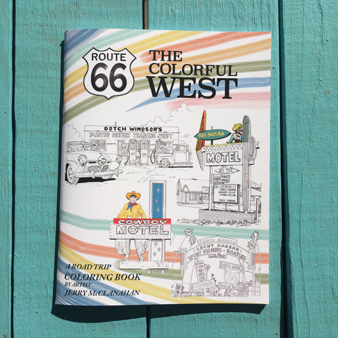 The Colorful West Road Trip Coloring Book