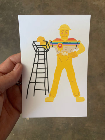 Pride Driller Postcard