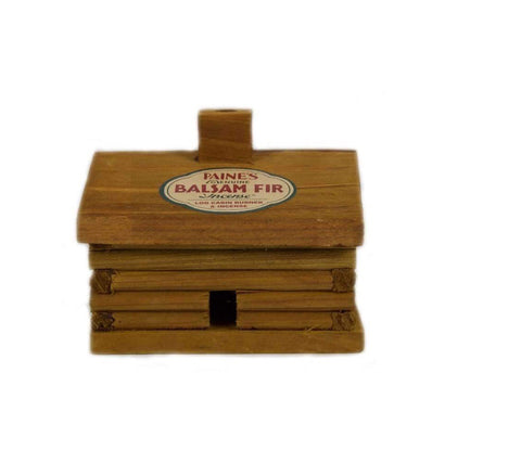 Balsam Fir Incense Log Cabin Burner