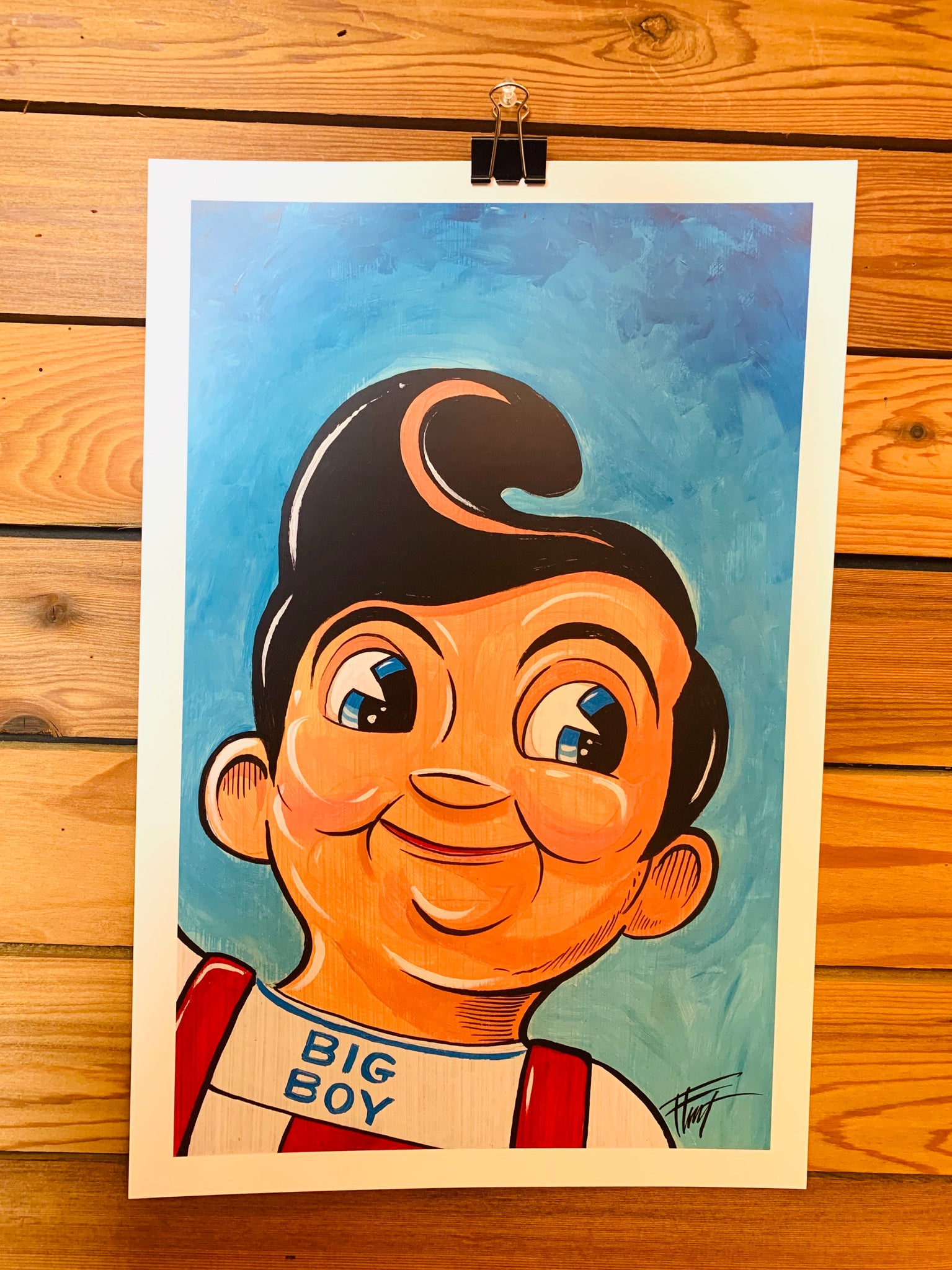 Big Boy Painting Print