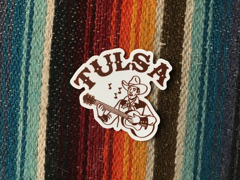 Tulsa Cowboy Sticker