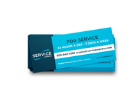 Service Request Sticker - Bundles of 25