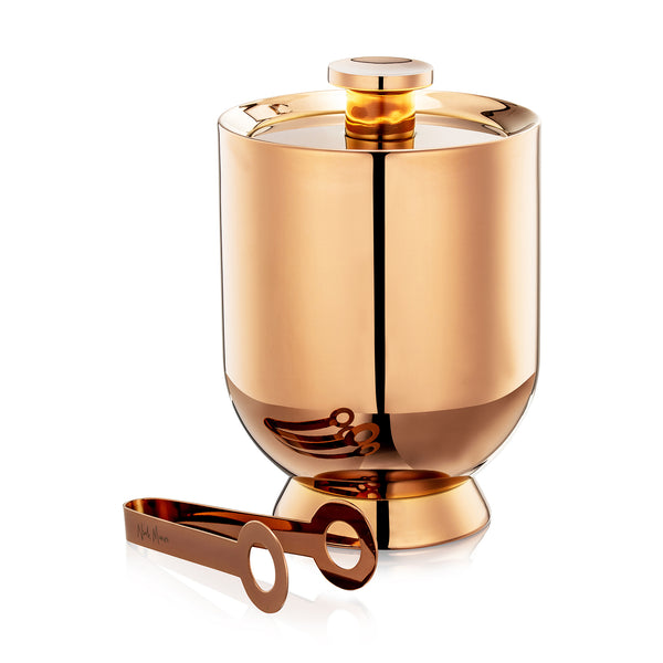Trombone Ice Bucket & Tongs Copper - Nick Munro