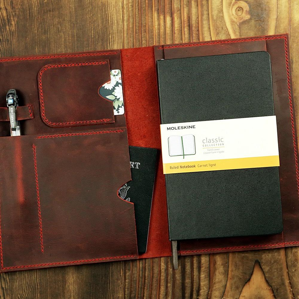 Burgundy Leather Travel Journal Cover For A5 Journals - Vintage Rebellion