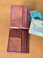 European Style Italian Leather Money Clip Bi-fold Wallet - Vintage Rebellion