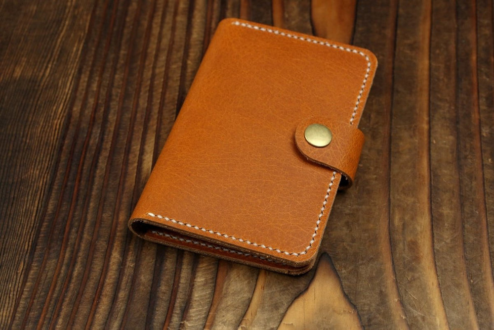 Leather Bi-fold Passport Wallet - Vintage Rebellion