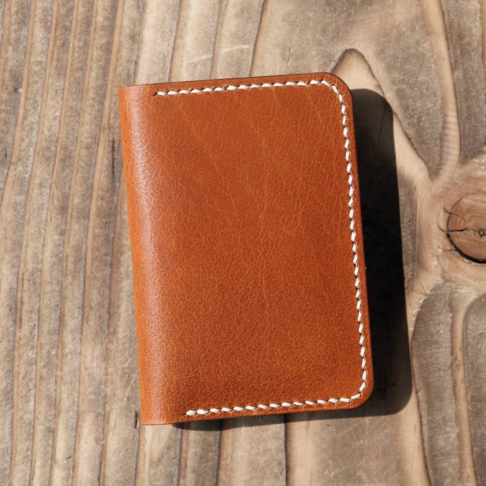 Handmade Leather Slim Vertical Bi-fold Wallet