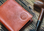 Slim Italian Leather Bifold Mens Wallet - Vintage Rebellion