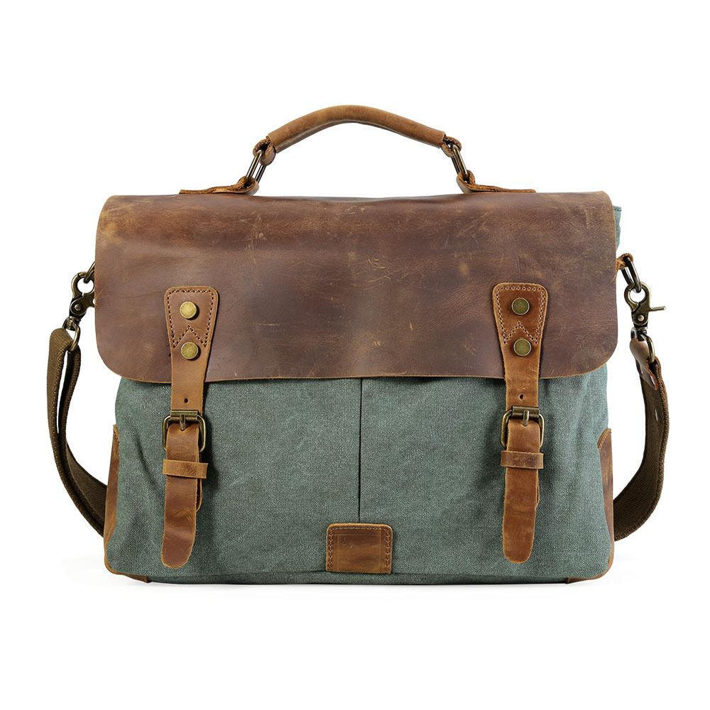 "Vintage Canvas 14"" Laptop Messenger Bags - Vintage Rebellion"