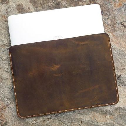 Vintage Distressed Leather Macbook Pro Sleeve