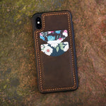 Vintage Handmade Distressed Leather Slim iPhone Case