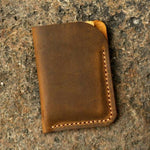 Vintage Handmade Leather Card Holder Sleeve Wallet - Vintage Rebellion