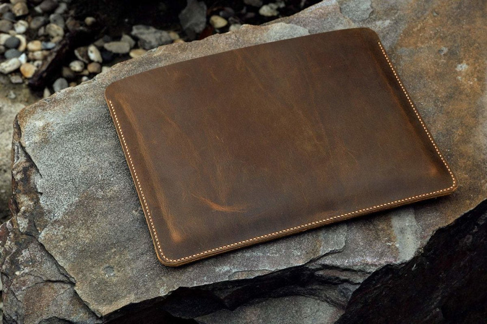 Vintage Style Distressed Leather Sleeve For Microsoft Surface Pro - Vintage Rebellion