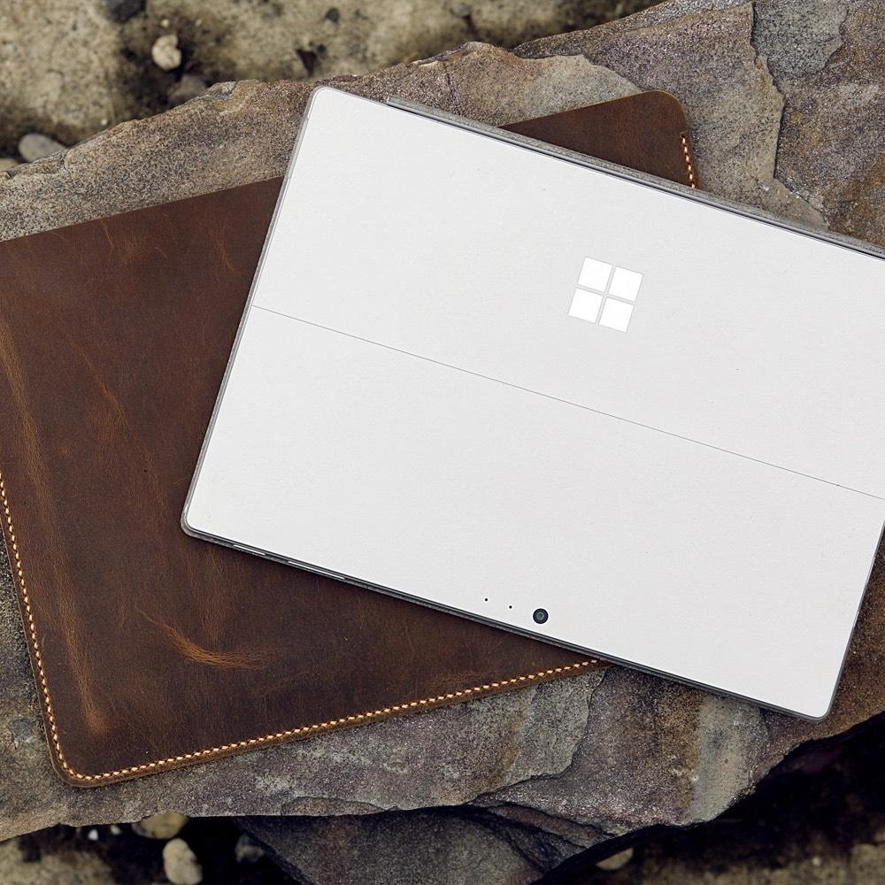 Vintage Style Distressed Leather Sleeve For Microsoft Surface Pro