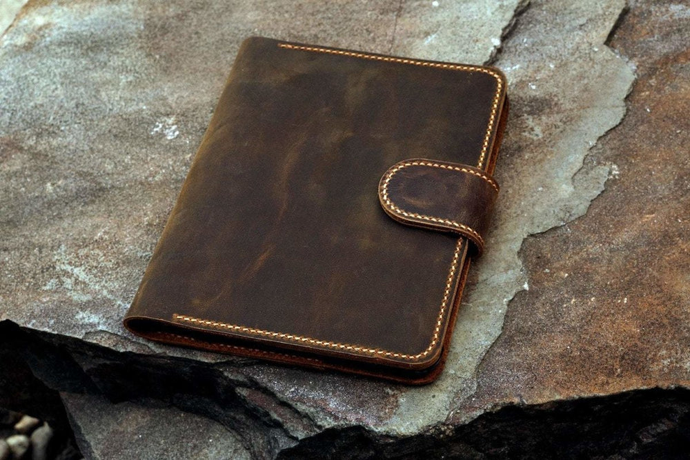Vintage Style Handmade Leather iPad Mini Stand Cover - Vintage Rebellion