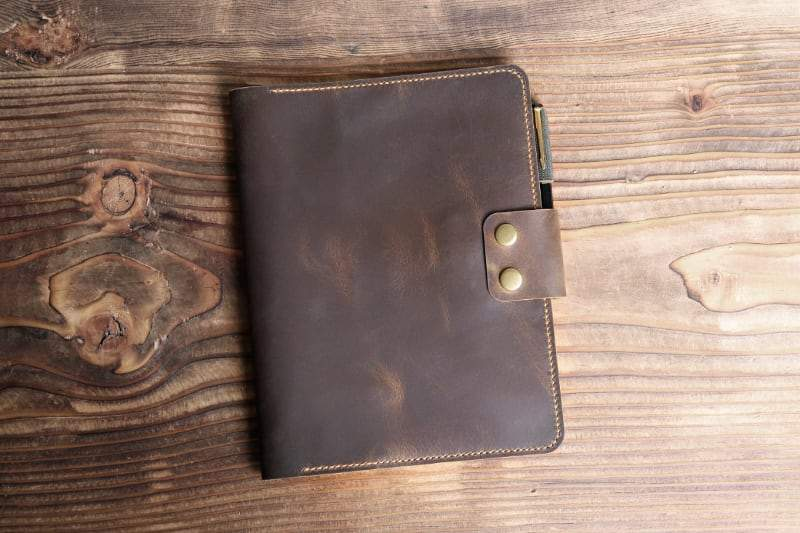 Vintage Style Leather Journal Cover For Composition Notebooks - Vintage Rebellion