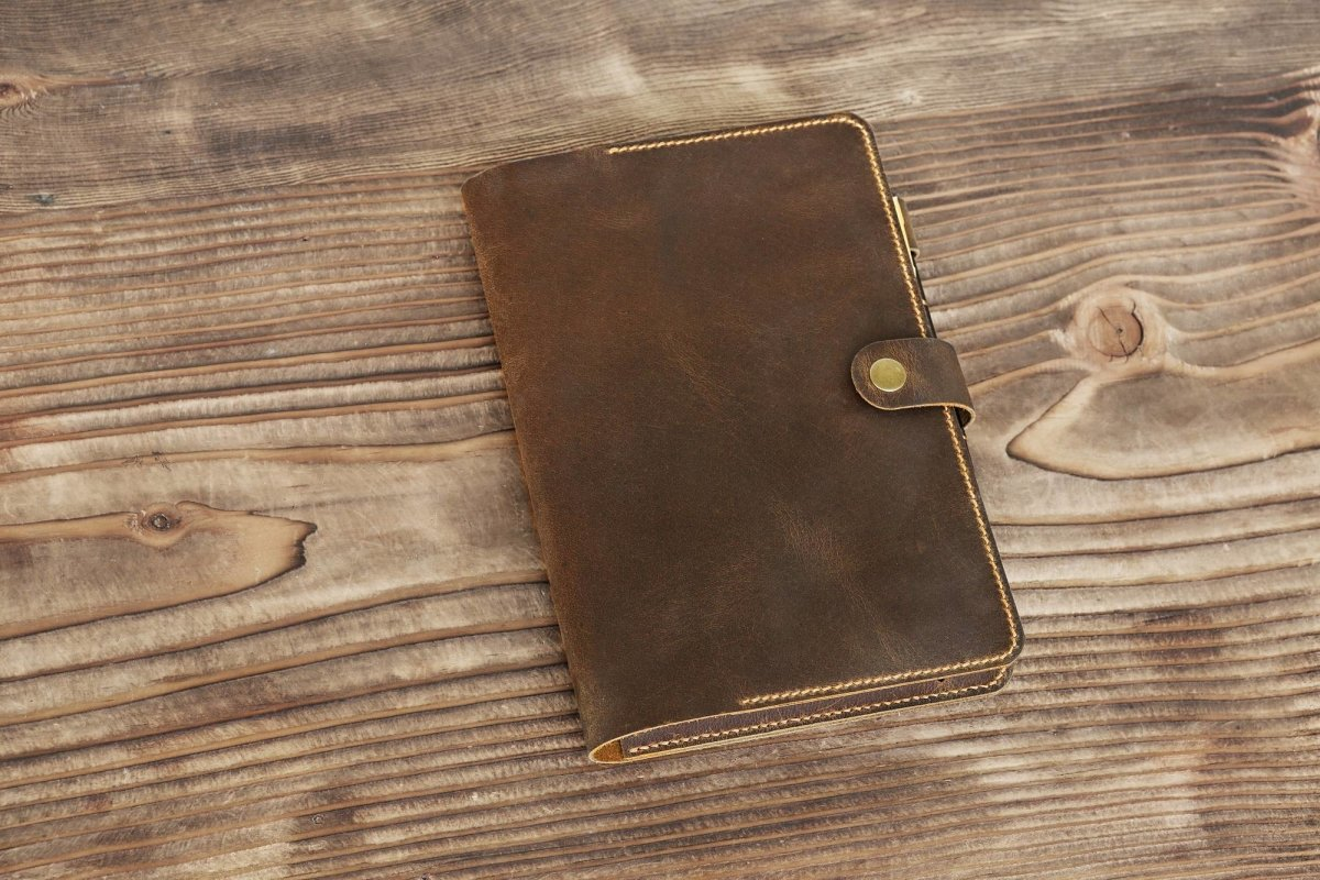 Vintage Style Leather Journal Cover For Full Focus Planner - Vintage Rebellion