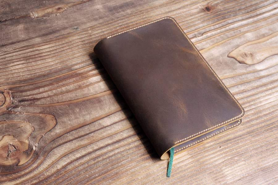 Vintage Style Leather Journal Cover With Pen Sleeve For Moleskine Journals - Vintage Rebellion