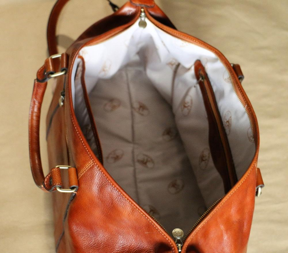 "Vintage Style Vegetable Tanned Italian Leather Designer 21"" Duffel Bag - Vintage Rebellion"