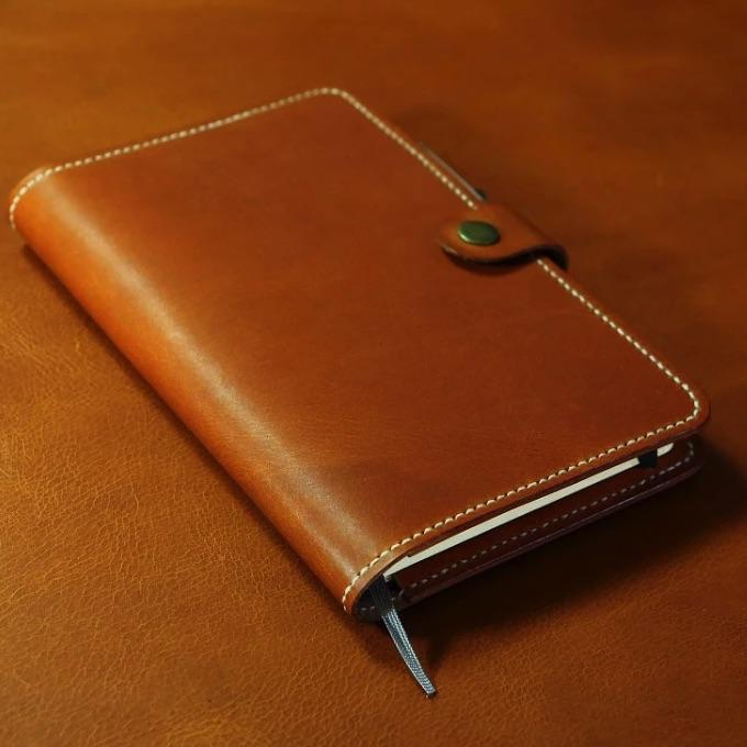 Vintage Style Vegetable Tanned Leather Executive Journal Cover For Moleskine Journals - Vintage Rebellion