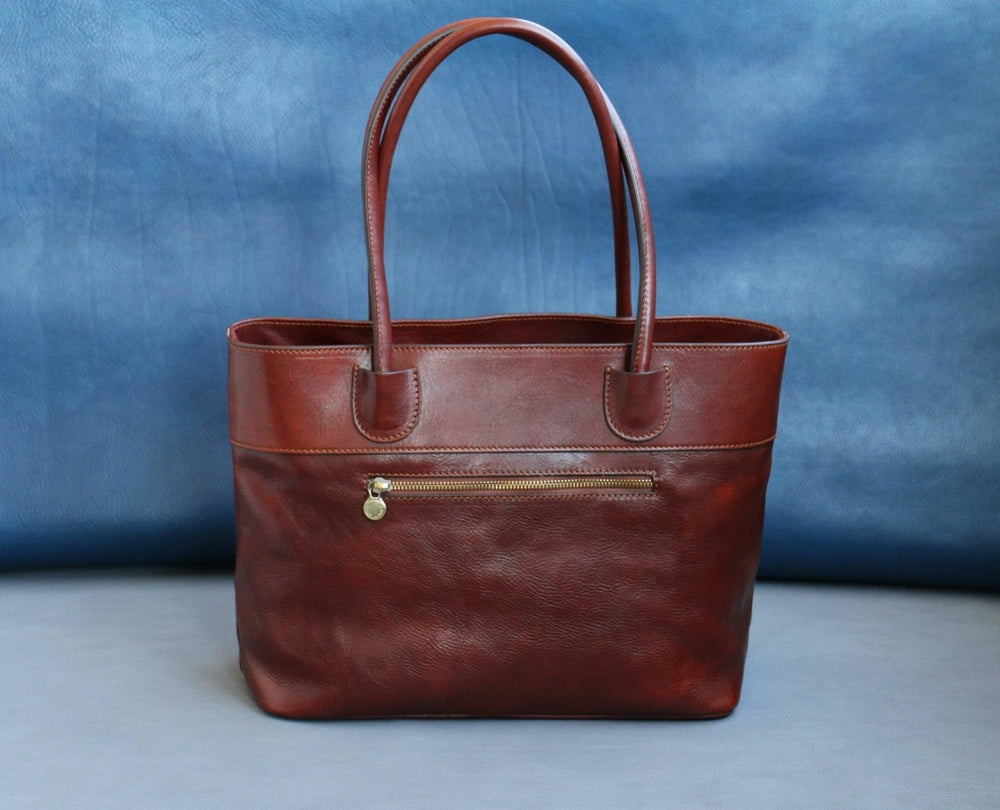 "Women's 15"" Italian Leather Satchel Handbag - Vintage Rebellion"
