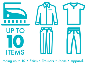 Standard Ironing - up to 10 Items