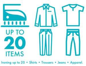 Standard Ironing - up to 20 Items