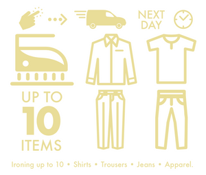 Next Day Ironing - up to 10 Items