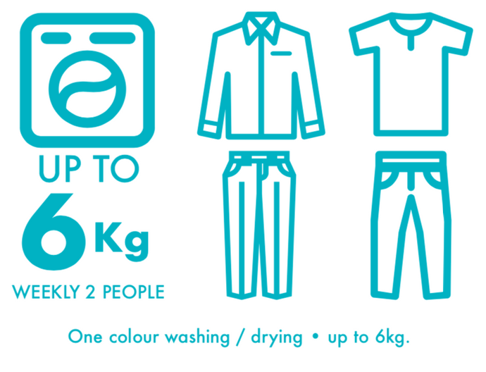 Washing and Drying - One Colour - 6kg