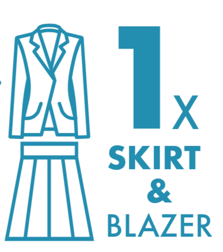 Dry Cleaning: Skirt and Blazer