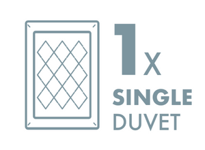 Dry Cleaning: 1 Single Duvet