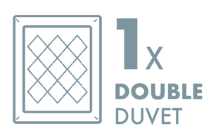 Dry Cleaning: 1 Double Duvet