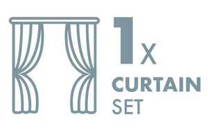 Dry Cleaning: 1 Curtain Sets